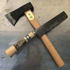 手斧とナタコンビ