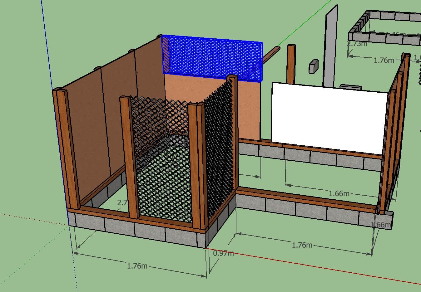 ニワトリ小屋の設計図