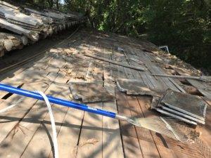 屋根掃除前